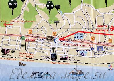 карта Курортного городка