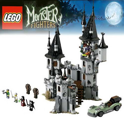 Innovative haunted house Lego Monster Fighters theme collection glowing Lego 9468 Vampire Castle set