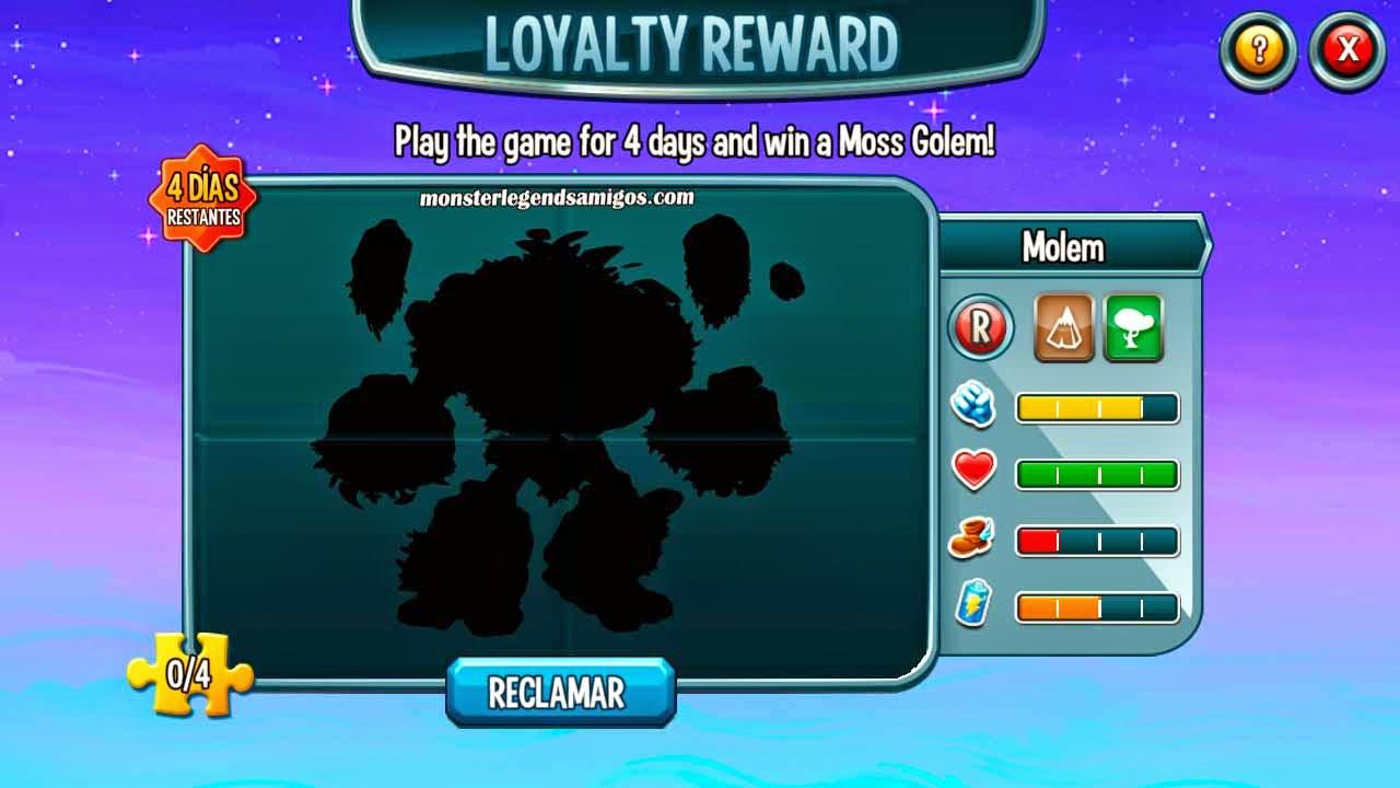imagen oculta de la recompensa fidelidad de monster legends