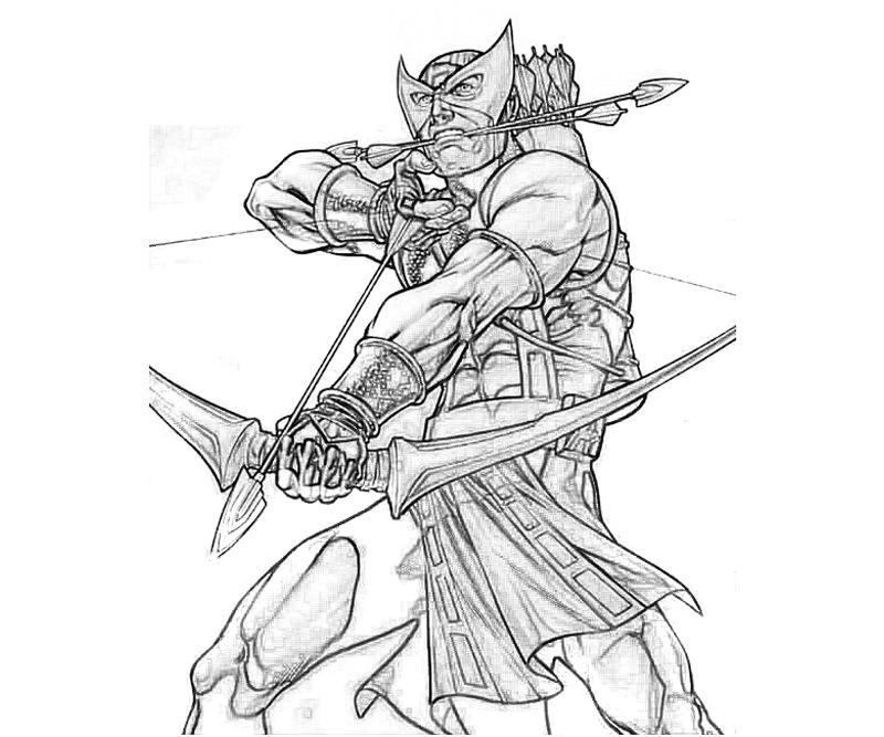 marvel-vs-capcom-hawkeye-skill-coloring-pages
