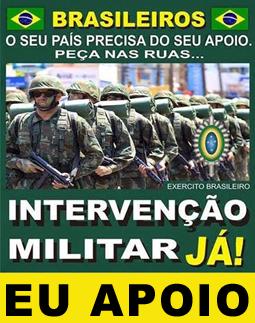 POR UM BRASIL DOS BRASILEIROS  E ACABAR COM OS POLÍTICOS CANALHAS, SÓ TEM UMA SOLUÇÃO.