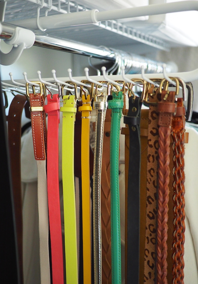 Putting me together simple closet organization anyone can do for Scarves hanger ikea