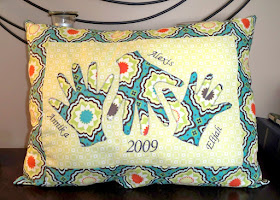 Handprint Pillow Keepsake for Grandma