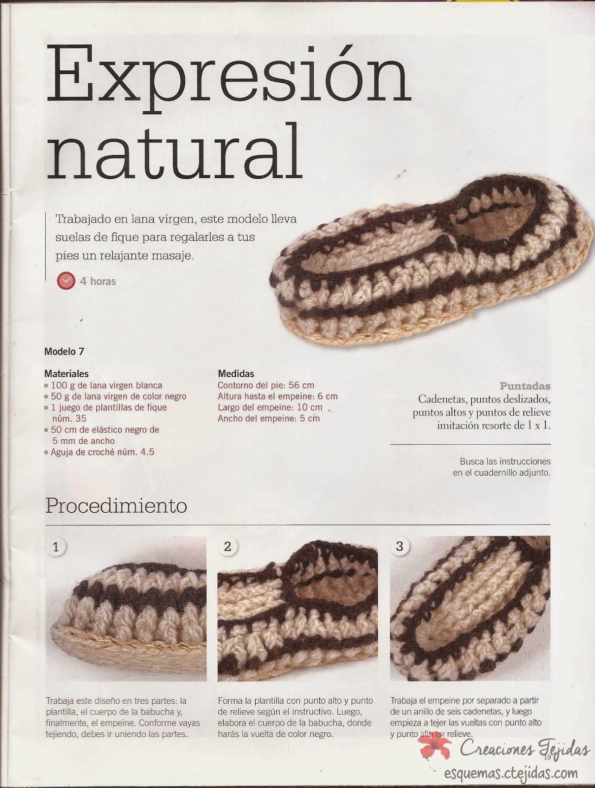 Zapatos a Crochet - Babuchas