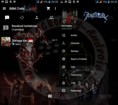BBM Mod Metallica Themes New Versi 2.10.0.31 Apk Clone