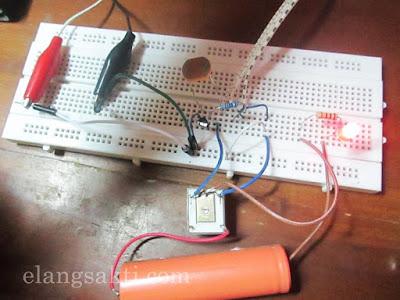 Skema Rangkaian Sensor Cahaya LDR untuk saklar cahaya