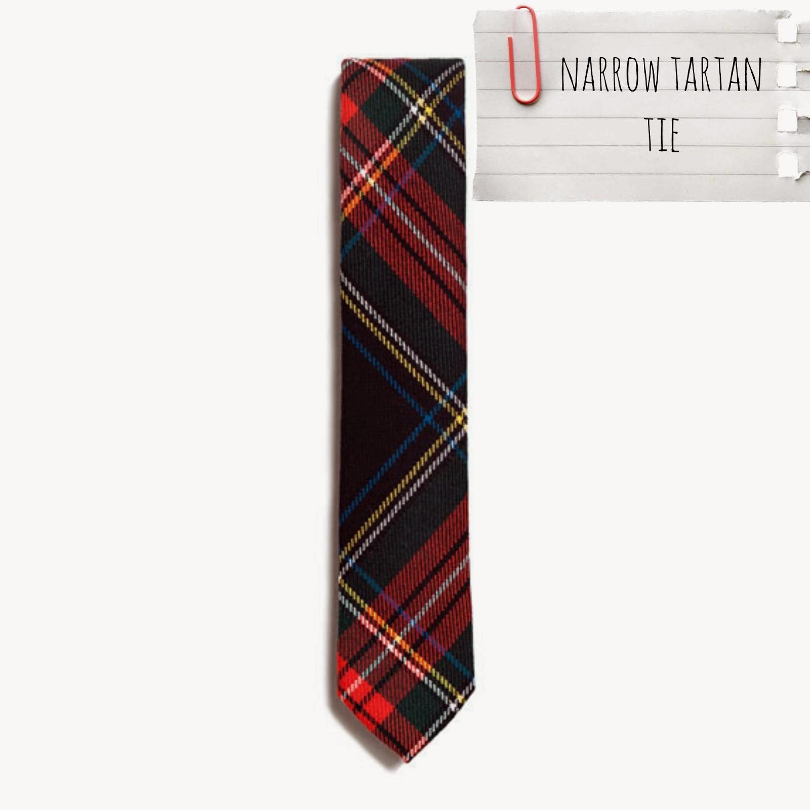 Corbata estrecha tartán - Zara