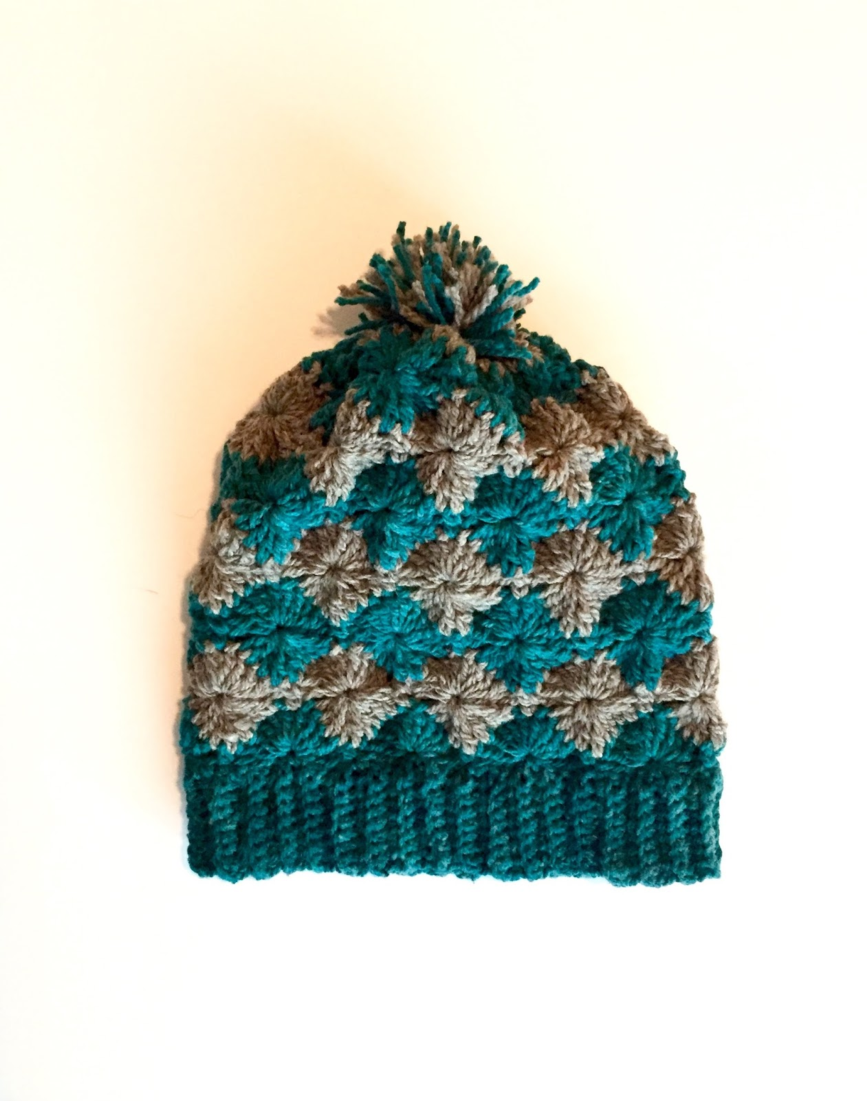 A new hat - Dori\'s Diamond hat with Earflaps and a Pom-Pom - Little ...