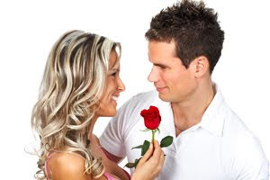 woman-gives-man-rose-romance-relationship-expert - Relationship Rules For Men