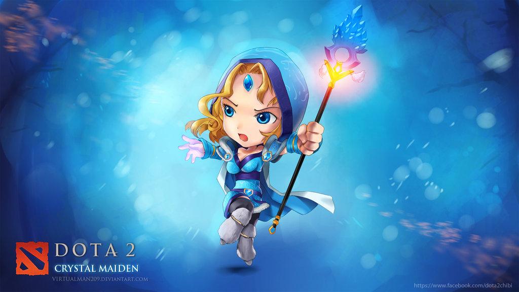 Dota2 Wallpaper - Crystal Maiden DOTA 2 Chibi style by  VirtualMan209Dota Wallpaper Crystal Maiden
