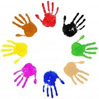 hand make art how to make hand print