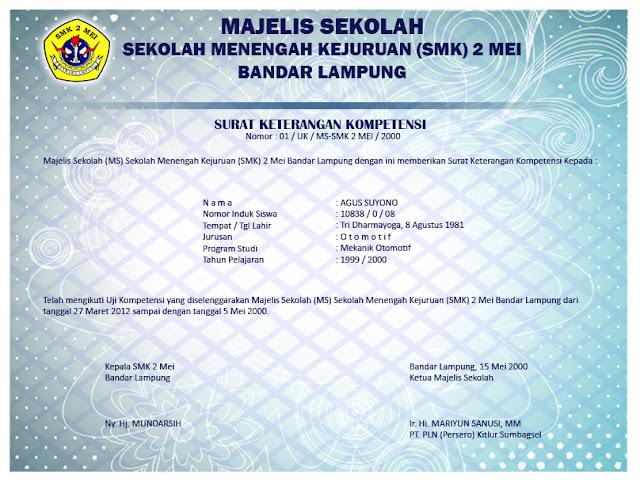 sertifikat kompetensi smk