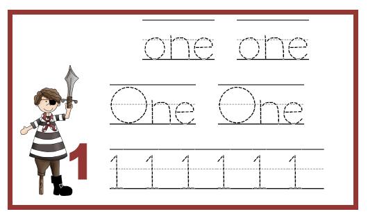 Number Names Worksheets : numbers 1-10 worksheets for preschool ...