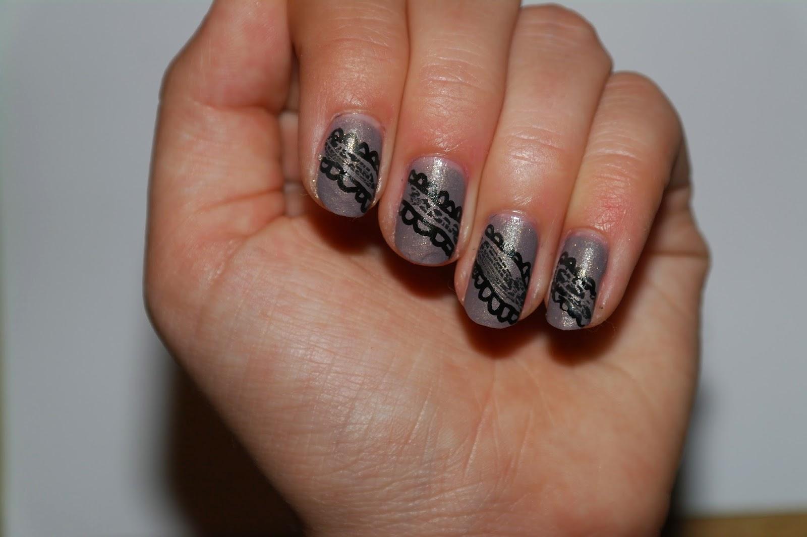 Nageldingenenzo Black Lace Nail Art