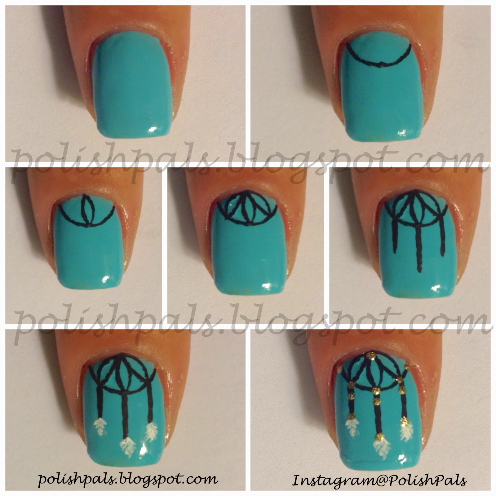 http://polishpals.blogspot.com/2013/12/dream-catcher-tutorial.html