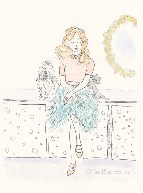 Fashion and Fluffballs illustration: Wait a Fluffy Minute © Shell-Sherree