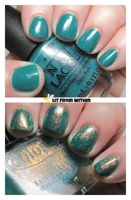 OPI Amazon..Amazoff and Color Club Galactic Garden!
