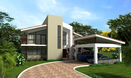 Fachadas de casas modernas fachada de residencia moderna for Estilos de casas modernas