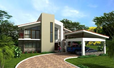 Fachadas de casas modernas marzo 2012 for Casas estilo americano
