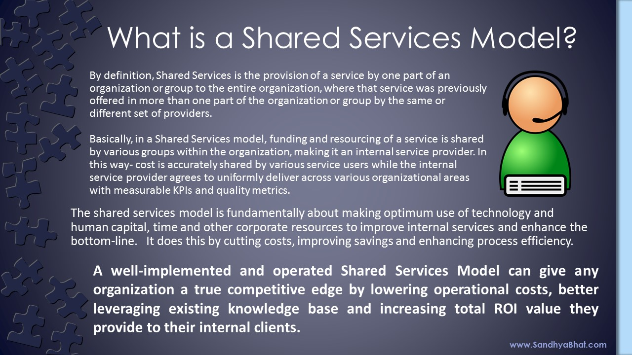 What is a Shared Services Model?