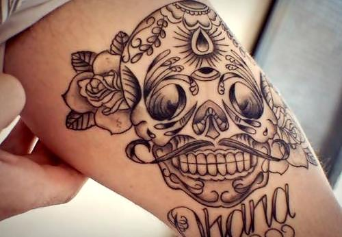 Tattoo tatuagem caveira mexina we love tattoos tatuagem for Skull love tattoos