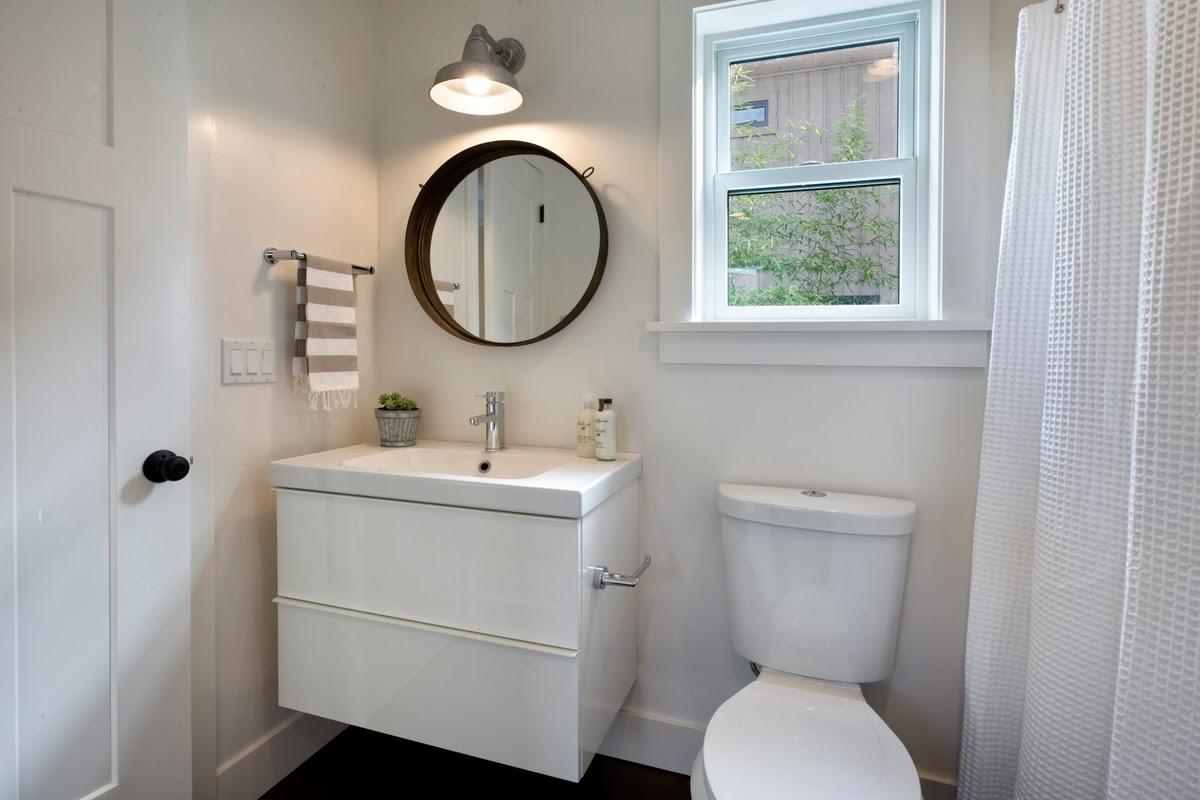 Modern Cottage November - Barn light bathroom