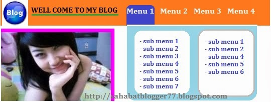 Membuat Navigasi Menu Fixed Full RotateX
