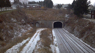 gallitzin tunnels in central pennsylvania in the snow