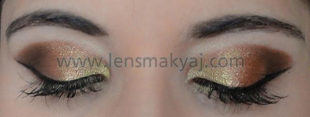 Altın Kahve göz makyajı