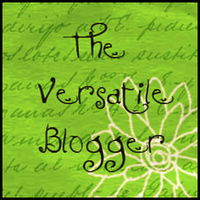 award: the versatile blogger