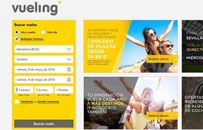 Vueling Nueva app vuelos baratos para Windows