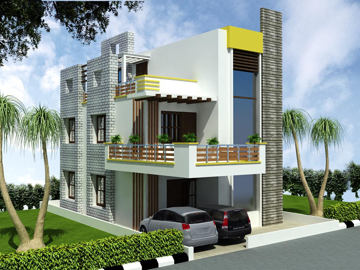 Bedrooms Duplex House Design in 135m2 (9m X 15m) « ApnaGhar