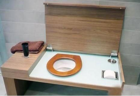 comment cacher un wc dans une salle de bain - inspiration du blog