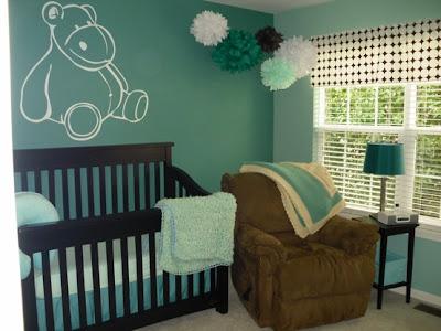 dormitorio bebé paredes verdes