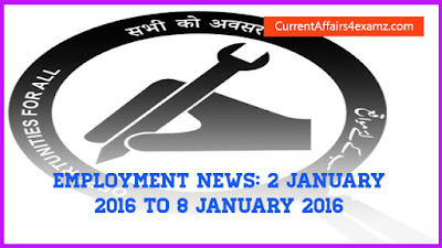 Employment News January 2016
