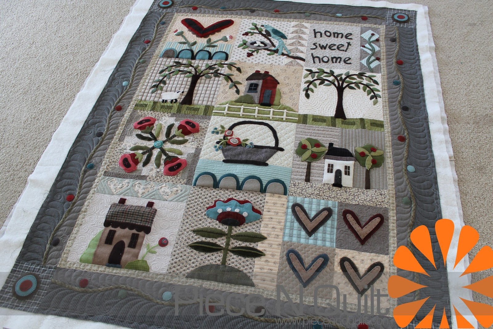 Piece N Quilt Wool Quilt Block Of The Month