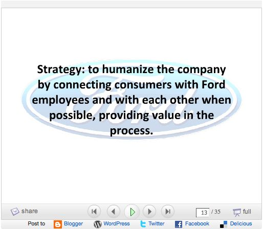 ford motor company strategic choice and evaluation paper An articulation of what kind of company we want to be  principles at toyota and an explanation paper entitled  (toyota motor manufacturing france.