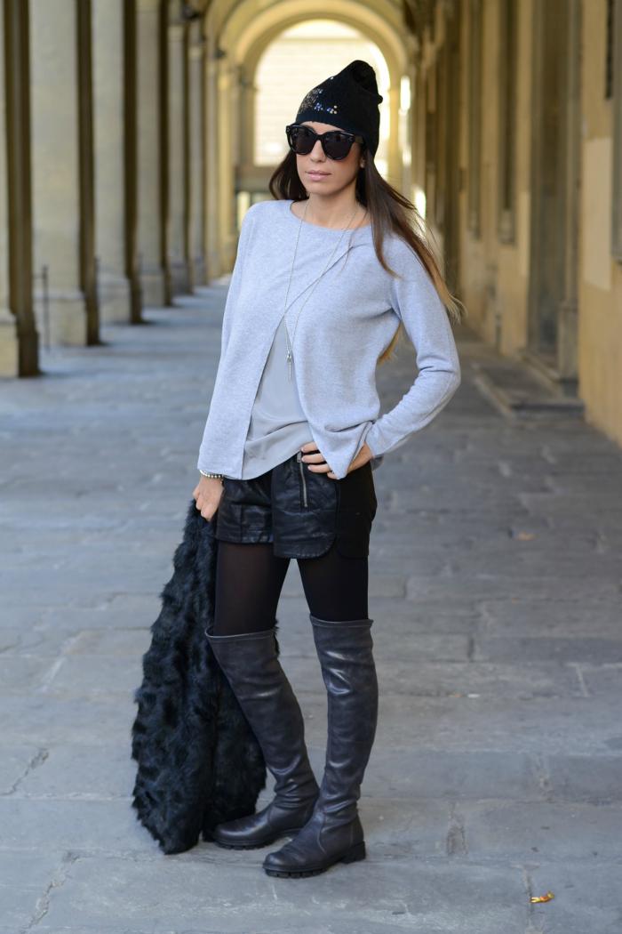 maglia cashmere con top raso