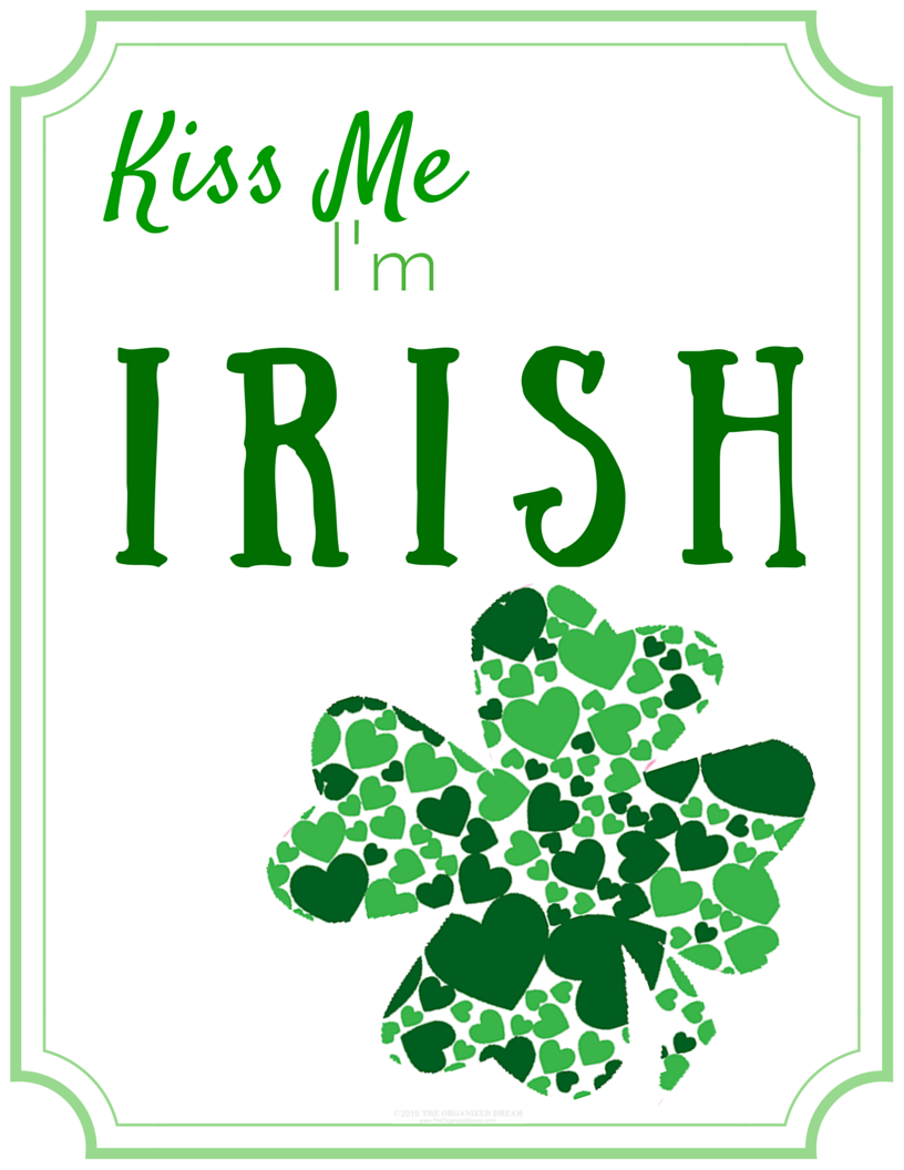 This is a photo of Simplicity St Patrick Day Free Printables