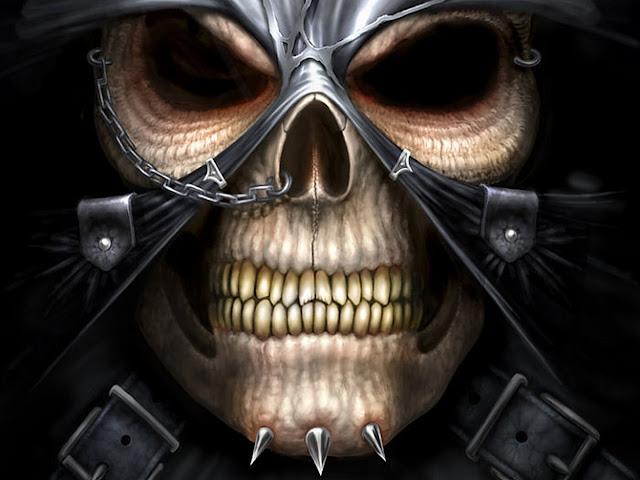 3D Evil Skull Wallpaper