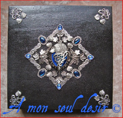 Coffret Boite à Bijoux Haliotis Ormeau Loup Garou Mythologie Fenrir Game of Thrones Stark Winterfell Abalone Paua Shell Jewelry Box Winter's coming