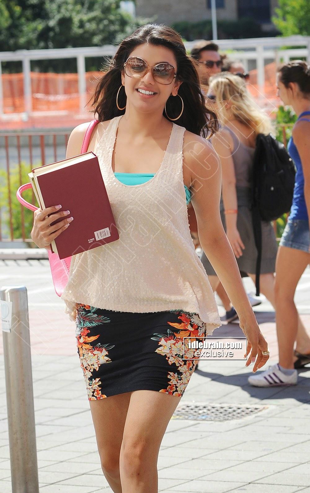 Kajal Agarwal mini skirt