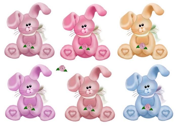 Pegatinas de conejos para imprimir - Imagenes y dibujos para imprimir