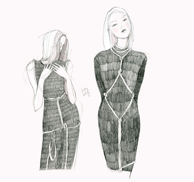 Eilish Macintosh bondage dress illustration