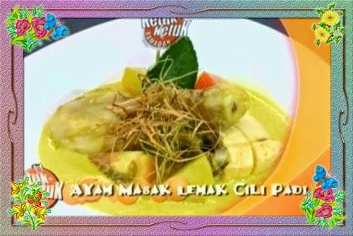 Ketuk Ketuk Ramadan 2014 Shukri Yahya -  Ayam Masak Lemak Cili Padi, Kek Ketam & Udang