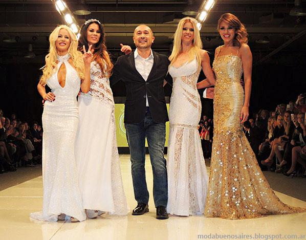 Claudio Cosano primavera verano 2014. Moda vestidos de fiesta 2014.