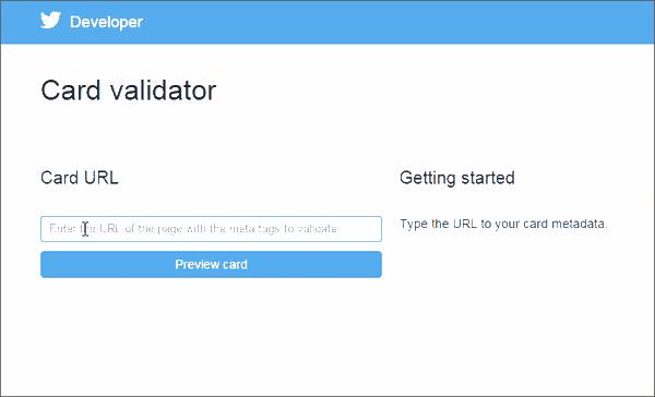 Validator Twitter Card
