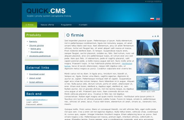 Free CMS PHP Script - Quick.Cms