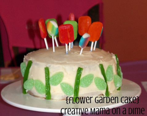 Flower Garden Cake - Creative Mama on a Dime