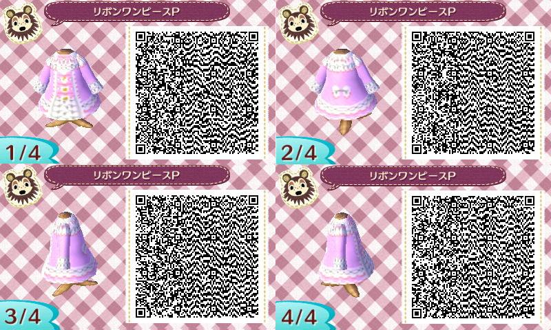 Animal Crossing New Leaf Pink Lolita Dresses Qr Codes